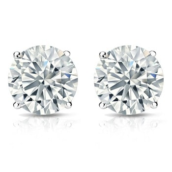dp stud color gold jewelry h amazon certified clarity i igi com studs earrings round cut white diamond cttw kl