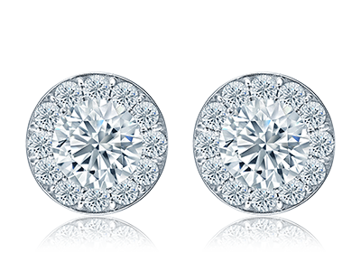 Diamond Halo <span>Studs</span>