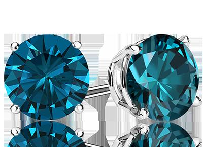 Mens Color <span>Diamond Studs</span>