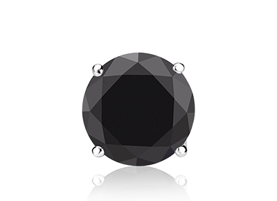 Mens Single Black <span>Diamond Stud</span>