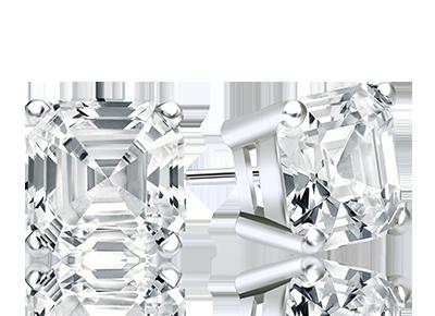 Asscher Diamond <span>Stud Earrings</span>