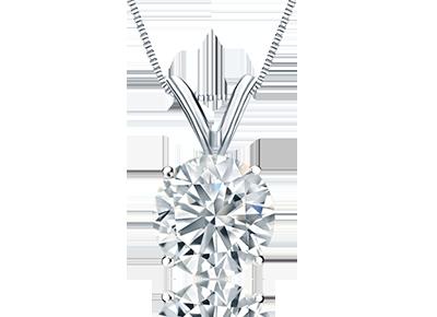Round Certified <span>Diamond Pendants</span>