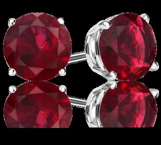 Ruby Stud <span>Earrings</span>