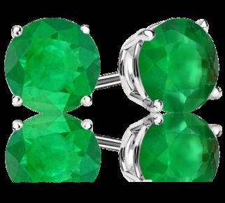 Green Emerald <span>Stud Earrings</span>
