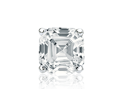 Asscher Single <span>Stud Earrings</span>