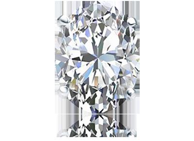 Oval Single <span> Diamond Stud </span>