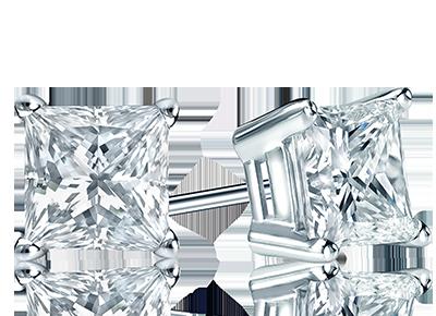 Certified Princess <span>Diamond Studs</span>