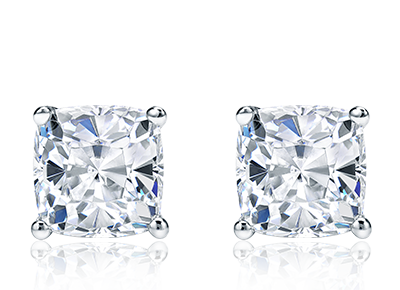 Certified Cushion <span>Diamond Studs</span>