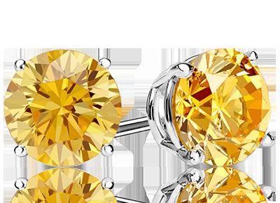 Yellow Diamond <span>Stud Earrings</span>