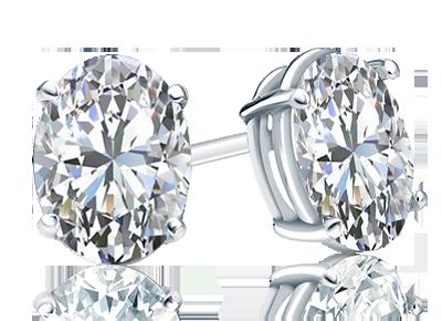 Oval Diamond <span>Stud Earrings</span>