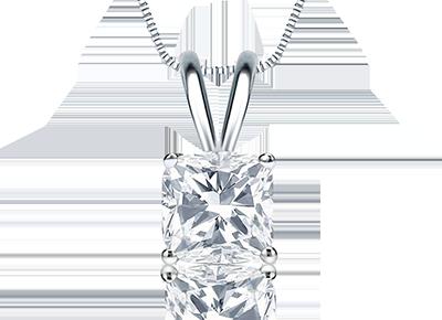 Cushion Cut <span>Diamond Pendants</span>