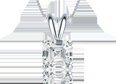 Asscher Shaped <span>Diamond Pendants</span>