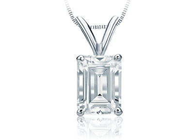 Emerald Cut <span>Diamond Pendants</span>
