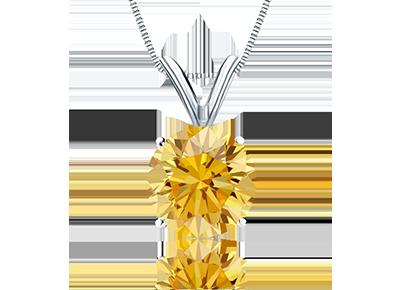 Natural Yellow  <span>Diamond Pendants</span>