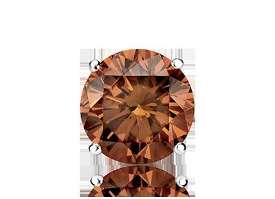 Single Round Brown <span>Color Diamond Studs</span>