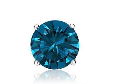 Single Round Blue <span>Color Diamond Studs</span>