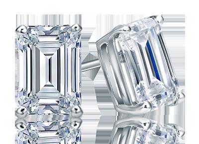 Certified Emerald  <span>Diamond Studs</span>