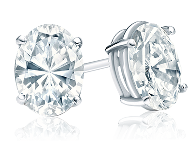 Certified Oval <span>Diamond Studs</span>