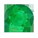 Round Green Emerald