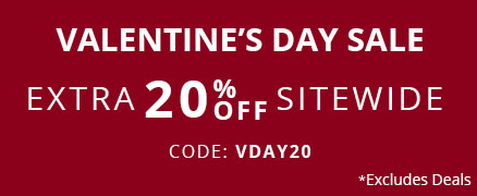 Valentine Day Sale Extra 20% off Sitewide