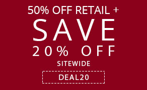 50% off Retail + Save 20% off Sitewide