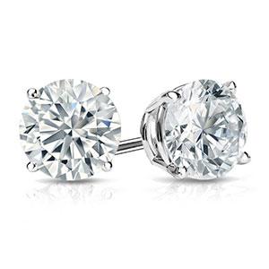 1 1/2 Carat Diamond Earrings
