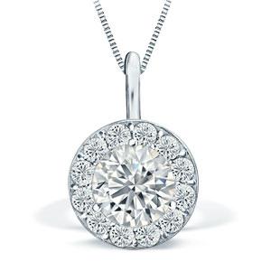 Halo Diamond Pendants