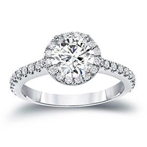 Halo Diamond Rings