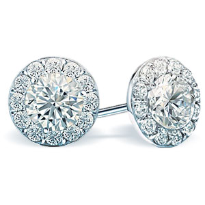 Halo Diamond Studs