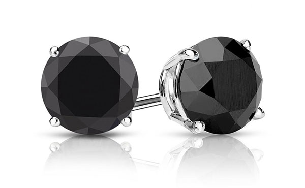 Men S Black Diamond Stud Earrings