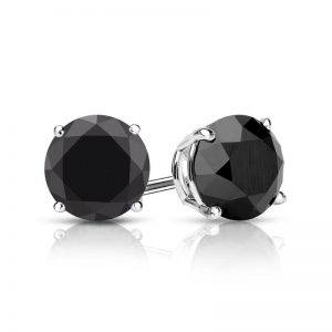 In Fashion Black Diamond Studs