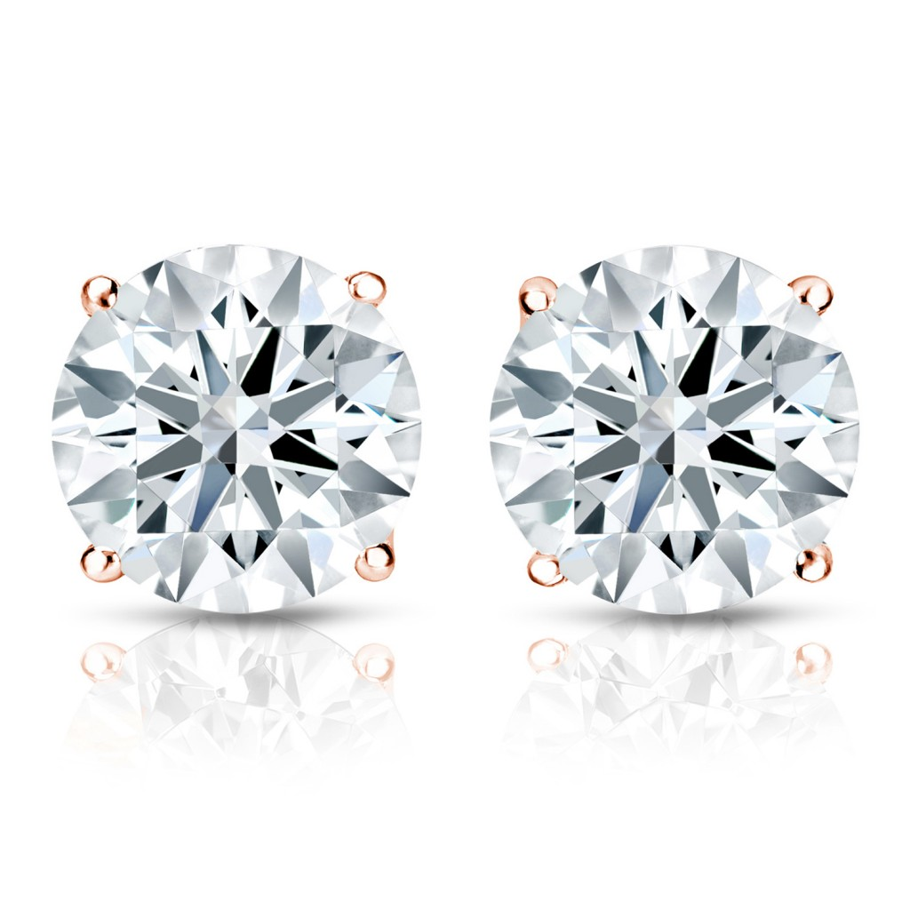 hearts and arrow diamond studs