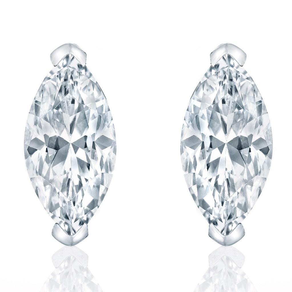 marquise cut diamond stud earrings