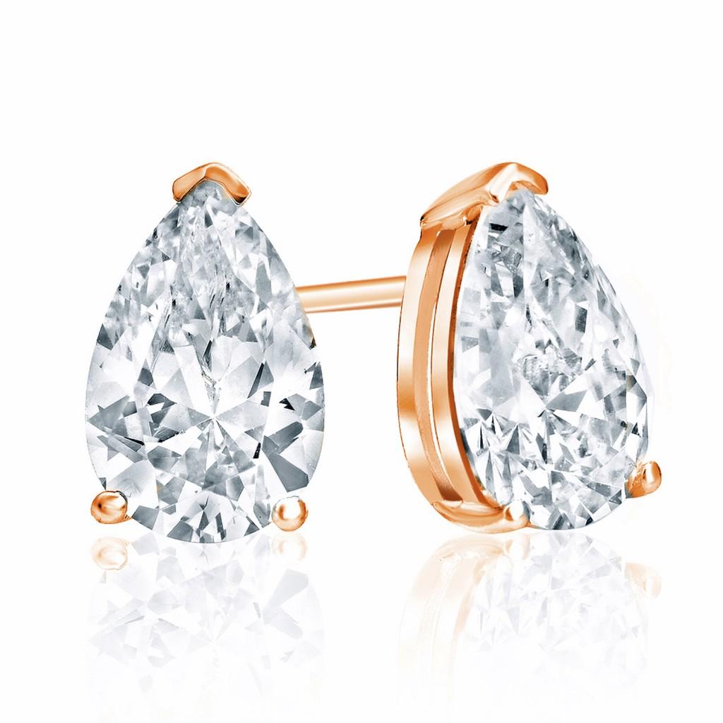 pear shape diamond studs