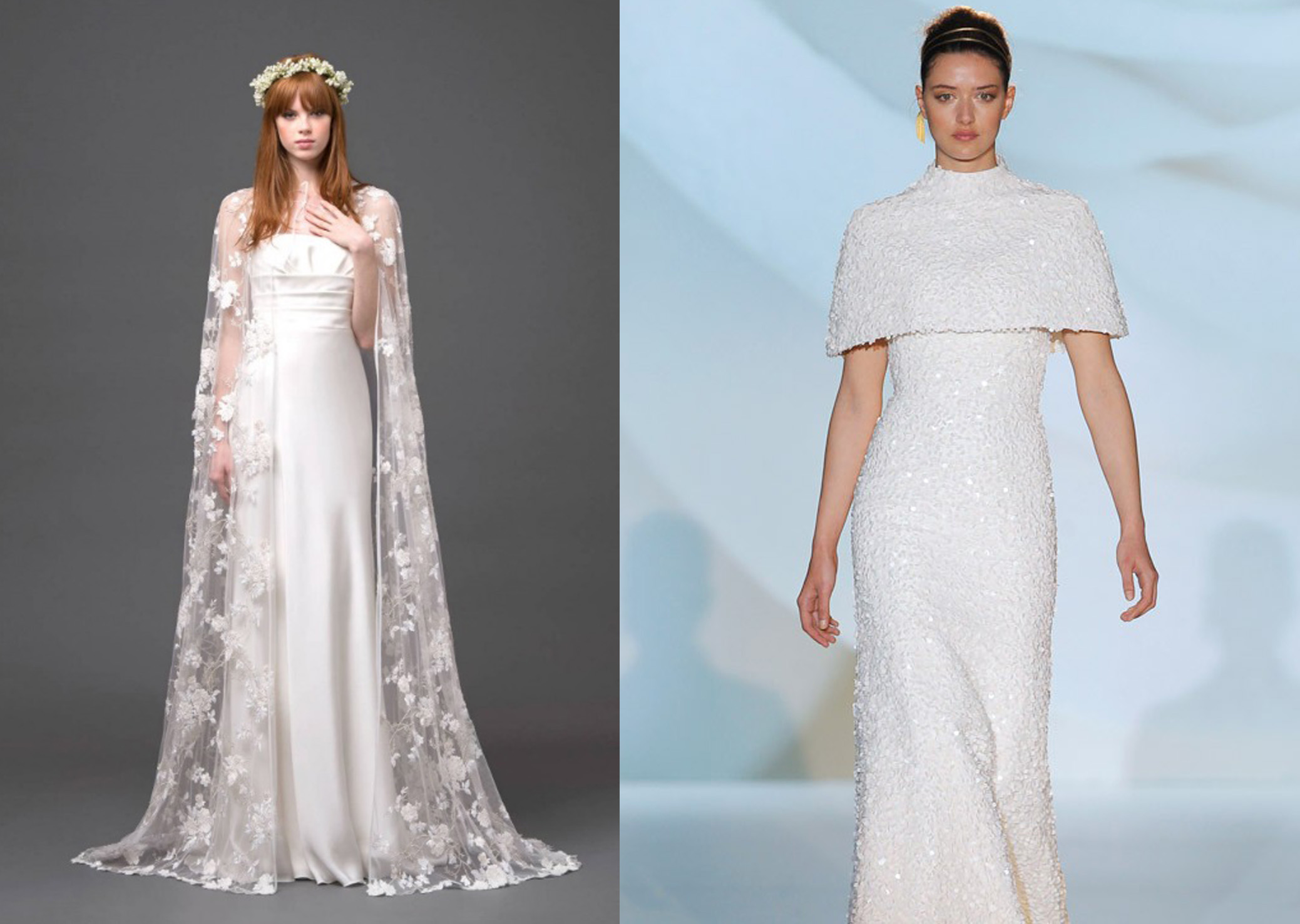 Wedding Gown With Cape: 5 Enchanting Wedding Styles Of Spring 2015 You Need To See