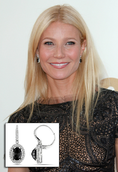 gwyneth-paltrow-black-diamond-earrings