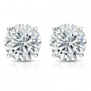 This 14 Karat White Gold Set Is A Clic Go To For The Las 4 G Basket Setting Simply Designed Your Liking These Earrings Are Simple And