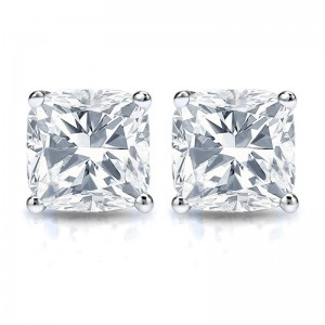 Cushion Diamond Studs Ds5 Also Known As Pillow Cut This Square Shaped Finish Is A Timeless Look That Does Glamour With Modern Edge There Much To