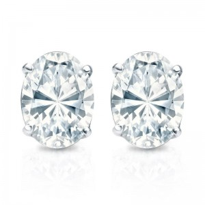 Be Diffe And Unique With These 14k White Gold Oval Studs They Are The Perfect Pair To Match An Shaped Ring