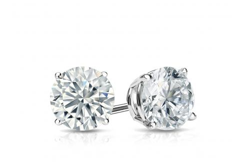 For Our First Pick We Offer A Clic Pair Of Men S Diamond Stud Earrings That Feature 14k White Gold Finish And Diamonds With Total Weight 75