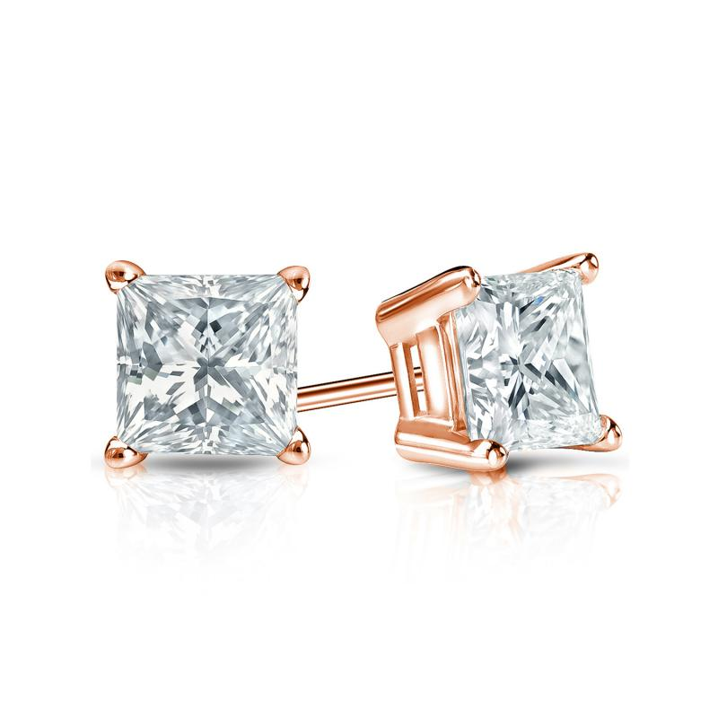 with diamond screw diamonds white earrings gold products in princess backs ct cut popular stud