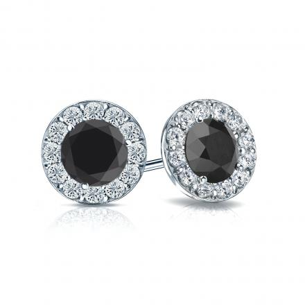 jewelry gold com diamond amazon ac ct dp white stud black earrings