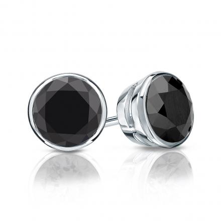 ctw diamond earrings black le