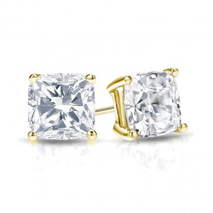 white june in certified diamond gold earring stud tcw yellow earrings studs