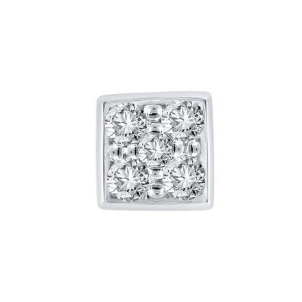 Certified 10k White Gold Round Cut White SINGLE Diamond Earring 0.25 ct. tw.