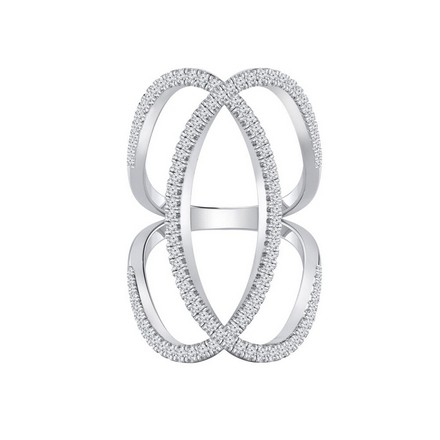 fb27c5ca10a1a Certified 14k White Gold Diamond Ring 0.75 cttw
