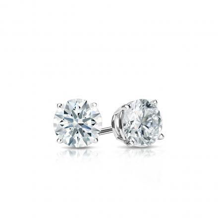 Certified Platinum 4-Prong Basket Hearts & Arrows Diamond Stud Earrings 0.33 ct. tw. (F-G, I1-I2)