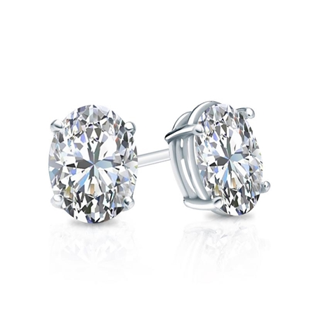 Oval Diamond Earrings Studs Oval Diamond Stud Earrings