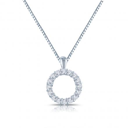 Sterling Silver Circle Of Life Penant Necklace 0.40 ct.tw. (H-I,I1-I2)
