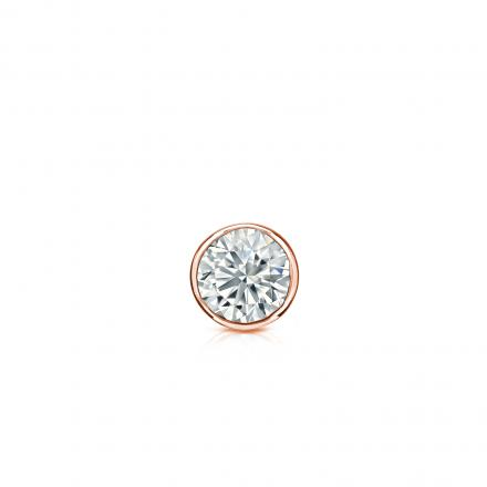 cfcfe85a45d8f Certified 14k Rose Gold Bezel Round Diamond Single Stud Earring 0.13 ct.  tw. (G-H, VS2)